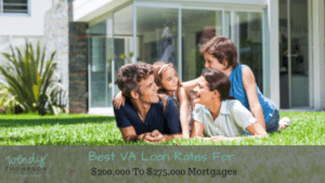 Best VA Loan Rates For $200,000 To $275,000 Mortgages
