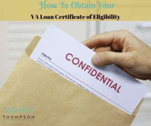 VA loan certificate of eligibility COE