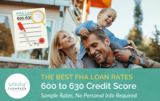 Best FHA Loan Rates 600 to 630 Credit Score