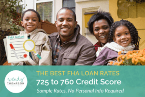 Best FHA Loan Rates 725 to 760 Credit Score