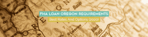 Oregon FHA Loan map of the state of Oregon with each county outlined in teals, tan and white